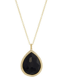 Ippolita Rock Candy Onyx Diamond Teardrop Pendant Necklace