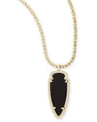 Kendra Scott Shaylee Pendant Necklace Black Opaque Glass