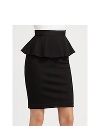 Alice + Olivia Natasha Peplum Pencil Skirt Black