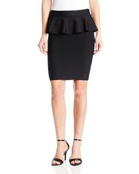 BCBGMAXAZRIA Malisa Power Stretch Peplum Pencil Skirt