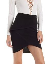 Charlotte Russe Asymmetrical Peplum Skirt
