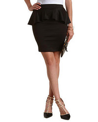 Charlotte Russe Bodycon Peplum Mini Skirt
