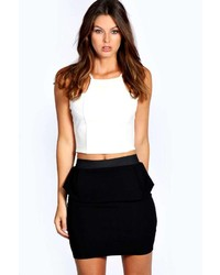 Boohoo Lucy Peplum Mini Skirt