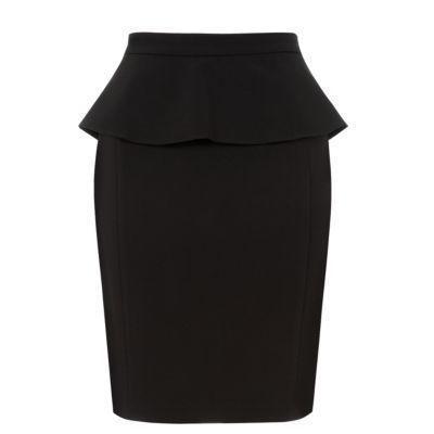 New Look Black Pencil Peplum Skirt