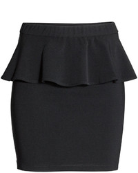 H&M Peplum Skirt Black Ladies