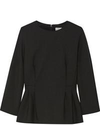 Elis stretch wool peplum top black medium 5173126