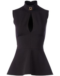 Givenchy peplum sleeveless blouse medium 256609