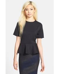 Glamorous Short Sleeve Peplum Top