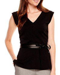 63a169b4b0a90b jcpenney By And By Byby Cap Sleeve Peplum Necklace Top Out of stock · Worthington  Worthington Sleeveless Peplum Shirt Tall