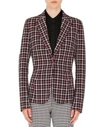 Akris Punto Checked Single Button Blazer