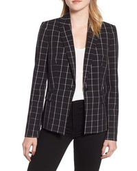 KARL LAGERFELD PARIS Windowpane Plaid Blazer