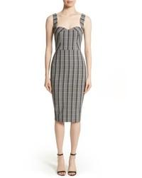 Victoria Beckham Plaid Curve Cami Dress