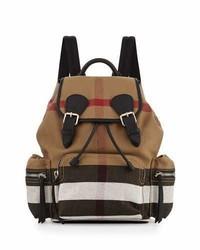 Burberry Medium Check Canvas Backpack Black