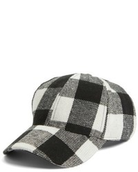 Black Plaid Cap