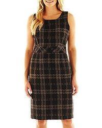 Nine co 9 co plaid inset waist dress medium 21538