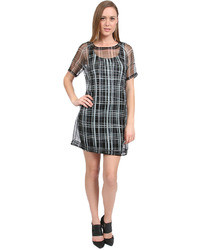Elizabeth and James Plaid Mckenna Dress In Blackgrey
