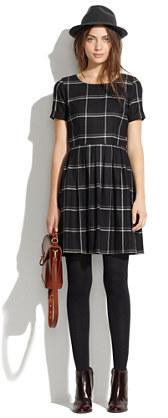b0fe4ed9c4b ... Black Plaid Casual Dresses Madewell Twirl Dress In Windowpane Plaid ...