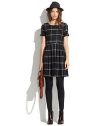 Twirl dress in windowpane plaid medium 21540