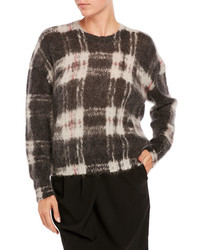 Sonia by sonia rykiel fuzzy knit plaid sweater medium 1211560