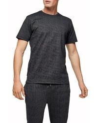 Topman Classic Fit Glen Plaid T Shirt
