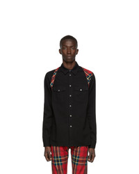 Alexander McQueen Black Denim Harness Shirt