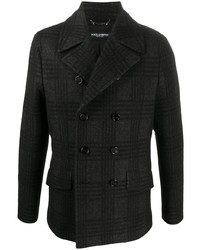 Dolce & Gabbana Plaid Pattern Double Breasted Jacket