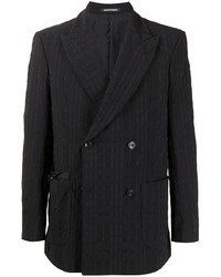 Emporio Armani Textured Double Breasted Jacket