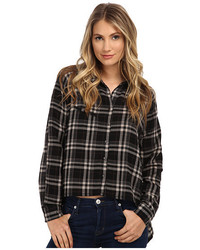 Plaid asymmetrical shirt medium 438492