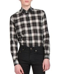 Plaid slim fit sportshirt medium 574774