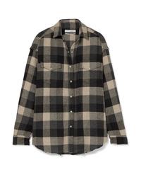 IRO Garance Plaid Cotton Blend Flannel Shirt