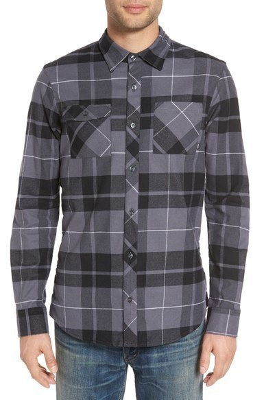 ... Nike Sb Holgate Regular Fit Plaid Flannel Shirt ...