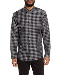 Calibrate Trim Fit Check Flannel Button Up Shirt