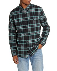 Vans Westminster Plaid Button Up Flannel Shirt