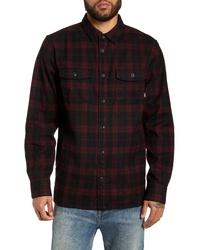 Black Plaid Flannel Shirt Jacket