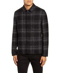 Vince Classic Fit Plaid Flannel Shirt Jacket