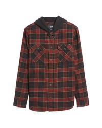 Vans Parkway Ii Plaid Flannel Hooded Shirt Jacket