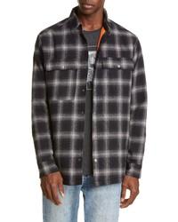 Ksubi Strata Plaid Button Up Flannel Shirt Jacket