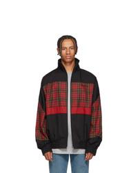Black Plaid Harrington Jacket