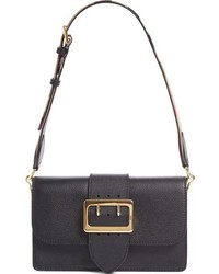 Burberry Medium Madison Grained Leather Shoulder Bag Black