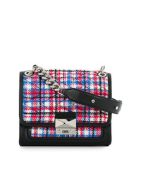 Karl Lagerfeld Quilted Tweed Shoulder Bag