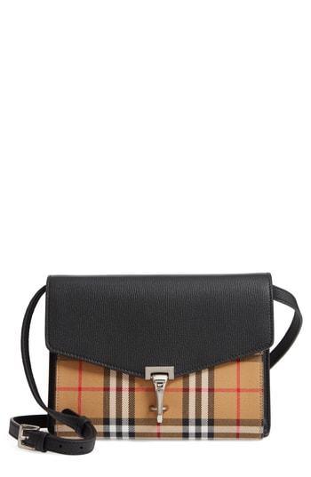 bc2623b7506d ... Leather Crossbody Bags Burberry Small Macken Vintage Check Crossbody Bag