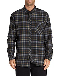 Black Plaid Long Sleeve Shirt