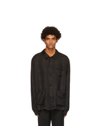 Cmmn Swdn Black And Brown Seth Shirt