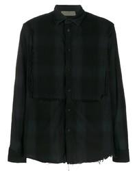 Di Liborio Checked Frayed Shirt