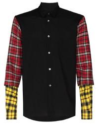 Comme Des Garcons Homme Plus Comme Des Garons Homme Plus Tartan Sleeve Buttoned Shirt