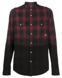 Balmain Dip Dyed Checked Shirt