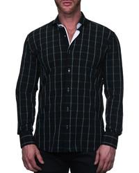 Maceoo Einstein Regular Fit Plaid Line Button Up Shirt
