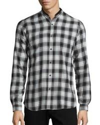 The Kooples Long Sleeve Plaid Button Down Shirt