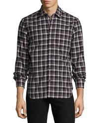 Midwood plaid long sleeve shirt medium 3648794