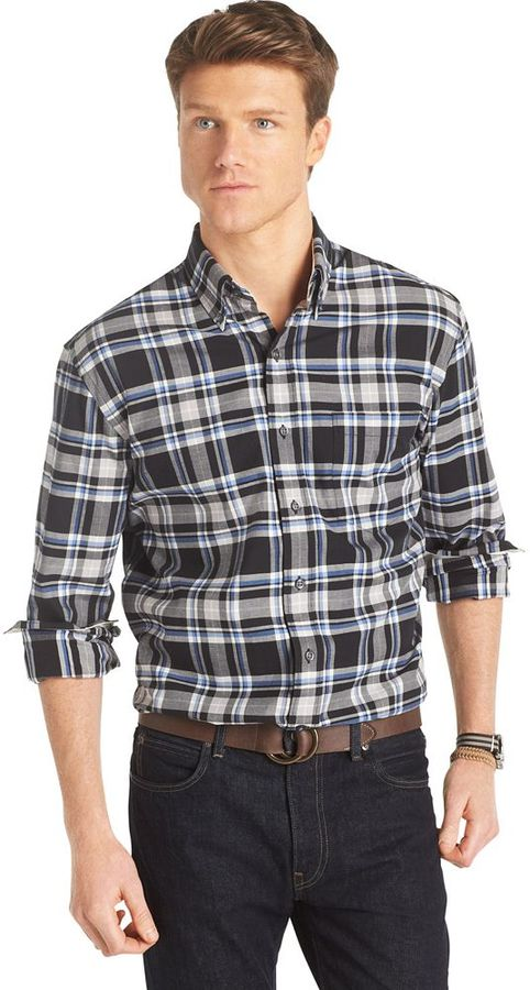 Izod Plaid Casual Button Down Shirt | Where to buy & how to wear